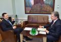 Президент Украины Петр Порошенко на переговорах с премьером Эстонии Юри Ратасом