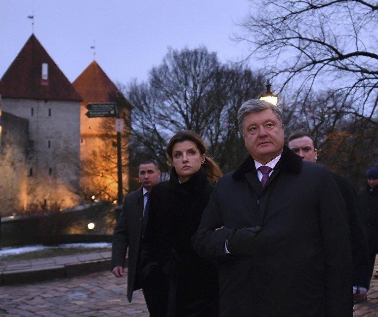 Визит Порошенко с супругой в Эстонию