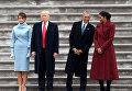 Мелания Трамп, Дональд Трамп, Барак Обама и Мишель Обама в день инаугурации Дональда Трампа, 20 января 2017 года