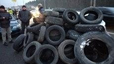 Перекрытие движения на Бориспольской трассе
