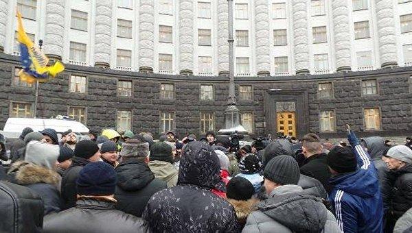 Акция протеста владельцев автомобилей с иностранной регистрацией под Кабмином, 24 января 2017