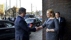 Встреча Петра Порошенко со спикером Эдускунты (парламента) Финляндии Марией Лохелой