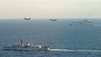 Британские ВМС и ВВС сопровождают российские корабли Адмирал Кузнецов и Петр Великий