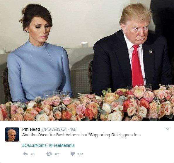 Грустная Мелания Трамп стала мемом