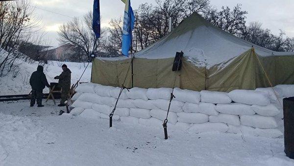 Ветераны АТО перекрыли железную дорогу вЛуганской области