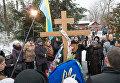 Церемония перезахоронения останков поэта Александра Олеся