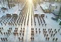 Живой самолет: 2017 харьковских курсантов присоединились к флешмобу. Видео