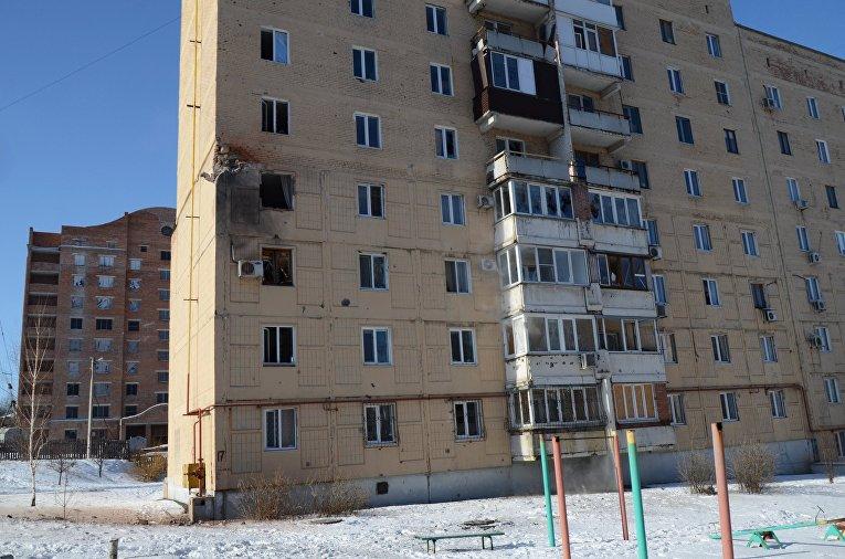 Жилое здание на улице Листопрокатчиков в Киевском районе Донецка
