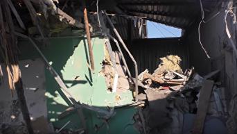 Жилые кварталы Донецка под обстрелом