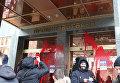Протест Нацкорпуса, созданного на базе Азова, возле отделения Проминвестбанка
