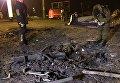 Последствия обстрела в Донецке 2 февраля
