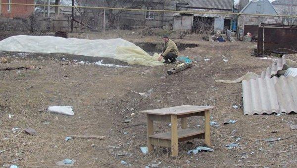 Обстрел поселка Сартана под Мариуполем