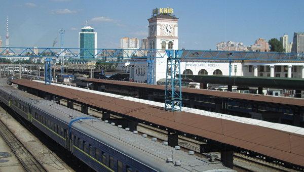 Милиция  получила сообщение оминировании ж/д вокзала вКиеве