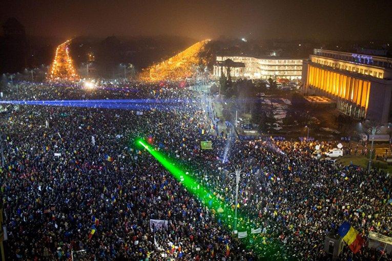 Крупнейшие за последние 25 лет протесты в истории Румынии