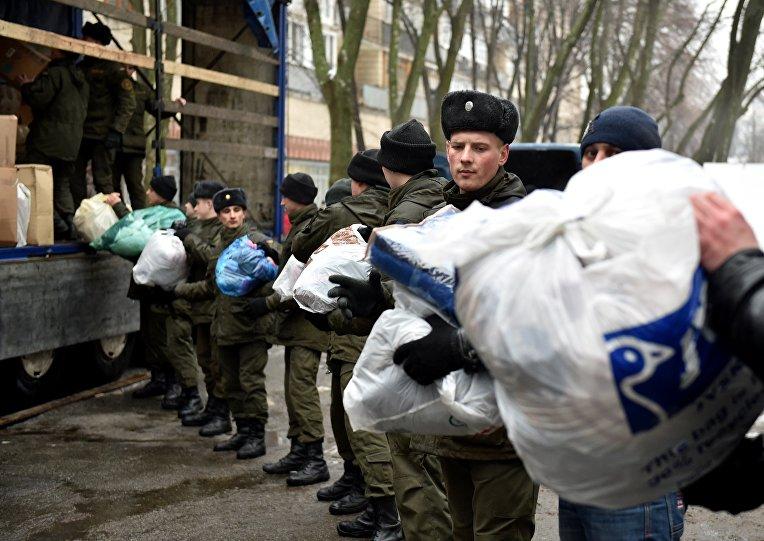 Сбор гуманитарной помощи для жителей Авдеевки