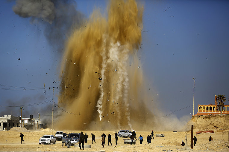Удар Израиля по блокпосту ХАМАС