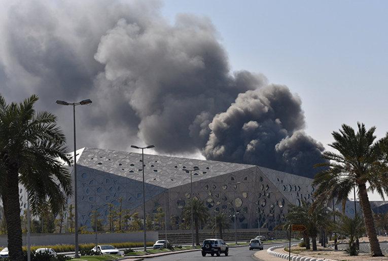 Пожар в культурном центре Кувейта