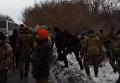 Кадры с места стычек спецназа и участников блокады Донбасса. Видео