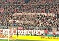 Бавария - Вольфсбург. Фанаты развернули два баннера Наци, убирайтесь из футбола и Зозуля, иди вон