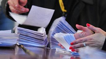 Подсчет голосов на выборах в Армении. Архивное фото