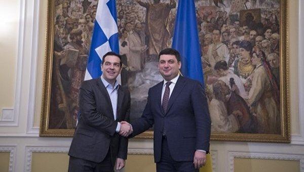 Премьер Греции Ципрас впервый раз посетил Украина ивстретился сГройсмано ...