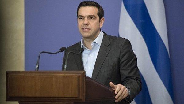 Премьер-министр Греции Алексис Ципрас в Киеве