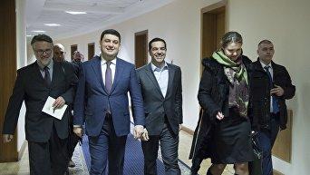 Премьер-министры Украины и Греции Владимир Гройсман и Алексис Ципрас