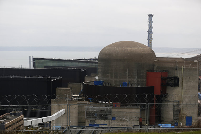 Ситуация на АЭС Фламанвиль в департаменте Манш во Франции. Энергоблок 1
