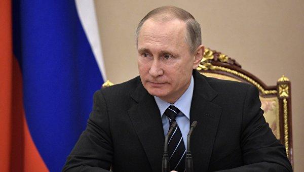 Президент РФ Владимир Путин провел заседание Совбеза РФ