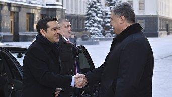 Встреча президента Порошенко и греческого премьера Ципраса в Киеве