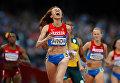 Россиянка Мария Савинова, выигравшая золотую медаль в забеге на 800 м в Лондоне