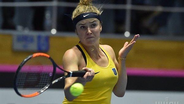 Элина Свитолина в поединке матча Кубка Федерации по теннису Украина - Австралия
