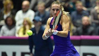 Леся Цуренко в поединке матча Кубка Федерации по теннису Украина - Австралия