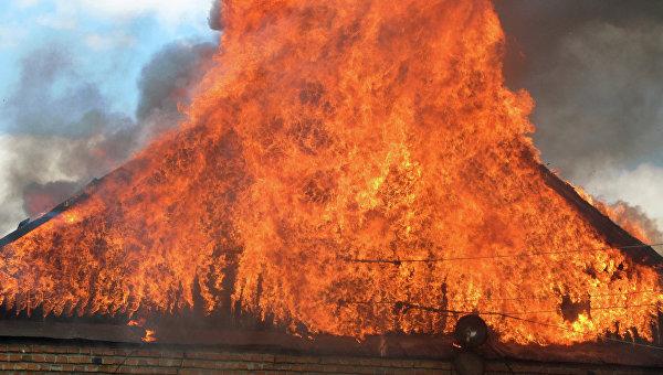 Пожар в частном строении