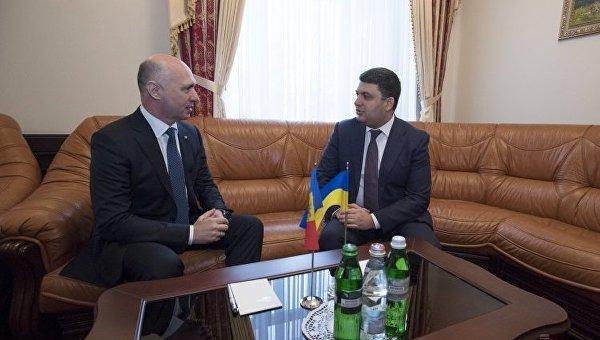 Премьер-министр Украины Владимир Гройсман и премьер Молдавии Павел Филип