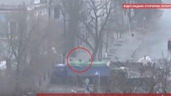 Расстрел активистов Майдана 20 февраля 2014 года. Видео
