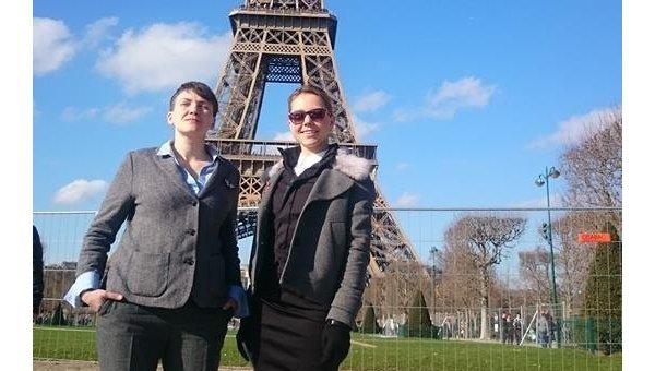 Сестры Савченко провели День влюбленных встолице франции