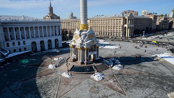 Центр Киева накануне годовщины расстрелов на Майдане