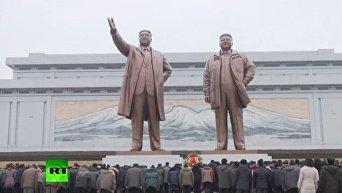В Северной Корее отмечают день рождения Ким Чен Ира. Видео