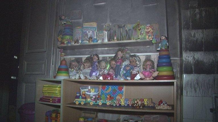 Во Львове сгорел детский сад. Сгорели игрушки и мебель, однако спасателям удалось потушить пожар  и он не уничтожил все здание.