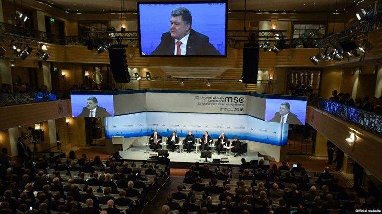 Президент Украины Петр Порошенко на Мюнхенской конференции