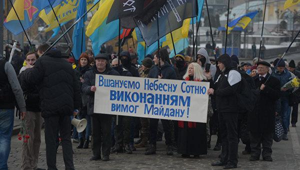ВКиеве милиция жёстко подавила протестующих наМайдане националистов