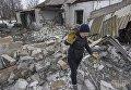 Разрушения в поселке Трудовое