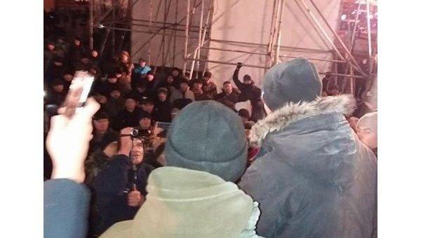 Милиция отпустила пятерых митингующих— Столкновения вКиеве