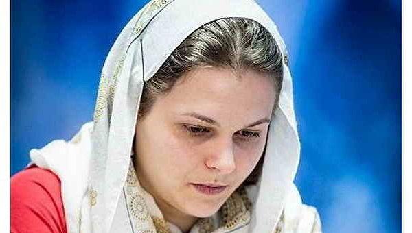 Анна Музычук на чемпионате мира по шахматам в Тегеране