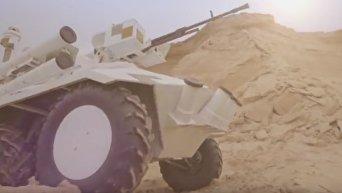 Украина испытывает в ОАЭ беспилотный БТР Фантом. Видео