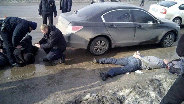 На месте задержания участников перестрелки в Кропивницком