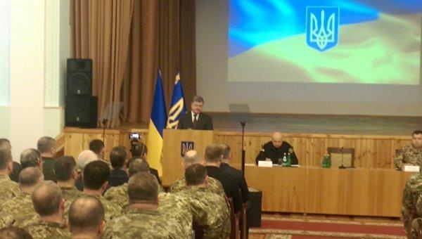 Петр Порошенко на заседании руководящего состава ВСУ