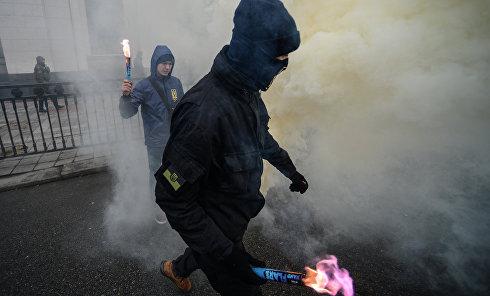 Марш национального достоинства в центре Киева
