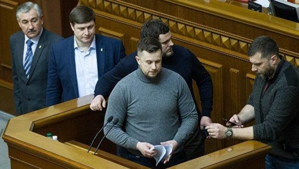 Народный депутат Андрей Билецкий зачитал с трибуны парламента требования участников Марша национального достоинства